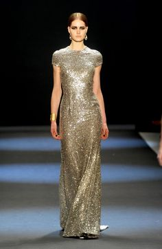 I don't know what type of occasion warrants a full sequin gown, but I want to be there.