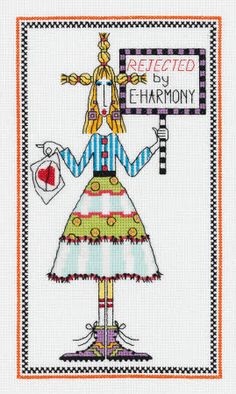 Dolly Mama counted cross stitch kit