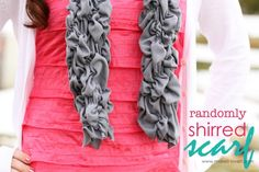 I've always wondered how these scrunchy scarves were made! Shirred Scarf Tutorial by makeit-loveit.com