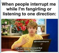 IM HAPPY OKAY!??! (one direction,videos,alone,forever alone,suite life on deck,funny)