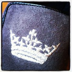 Enjoying the #crown #embroidery on the slippers churchshoes