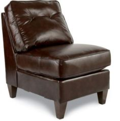Laurel Armless Middle by La-Z-Boy - can add another seat to the sectional AND it comes in leather