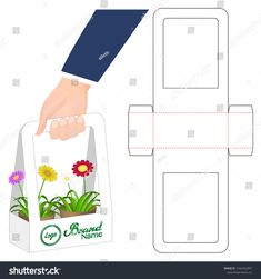 ~ Pin on Cajas caneo ~ Box Packaging Die Cut Template Design Stock Vector (Royalty Free) 1442452997 Packaging Box, Flower Packaging, Packaging Design, Box Template Printable, Paper Box Template, Diy Gift Box Template, Diy And Crafts, Paper Crafts, Packing Boxes