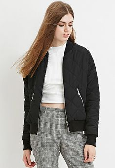 Contemporary Quilted Bomber Jacket, $39.90