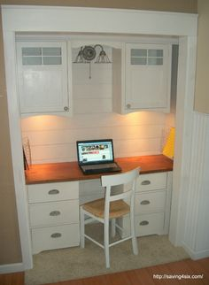 office closets. Get Organized In A Small Space With Cloffice {Office Closet Office Closets E