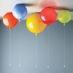 Balloon Ceiling Light - A unique balloon light, suitable for ceiling use. The memory balloon is a light inspired by memories of childhood, and is perfect for a child's room, nursery or anyone with a sense of fun! These are amazing, check them out! #homedecor #balloons #nostalgia #affiliate