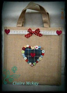 Just lovely Hessian Bags, Jute Bags, Coffee Bean Bags, Potli Bags, Diy Tote Bag, Burlap Crafts, Handmade Purses, Fabric Bags, Button Crafts