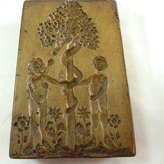 historische Barock Holzmodel Springerle Adam und Eva