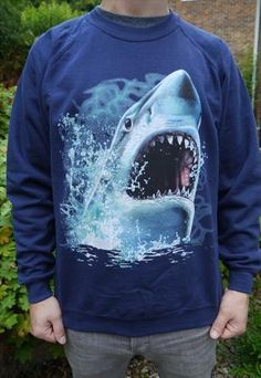 Wildlife Shark Jumper, Sweatshirt, Sweater, Sharks, New