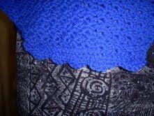 Bright Blue Yonder Shawl