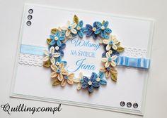 Narodziny Jana - quilling, greeting card, newborn baby, handmade card