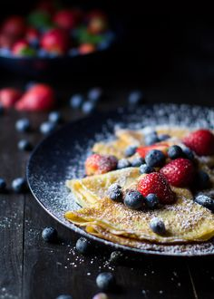 Crêpes have always been one of my favorite things, though the thought of making them never crossed my mind. Why? Because my perception of the process has always been that they're far too difficult to make unless you're a pro. Well, maybe not difficult, just daunting. And I won't lie, you hav
