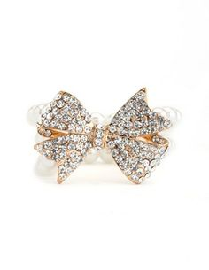 Pearl & Bow Bracelet: Charlotte Russe
