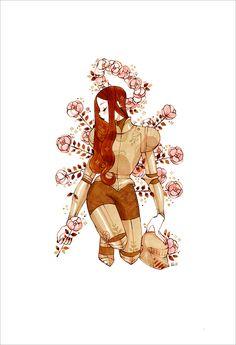 Golden Knight by Sibylline Meynet Art Sketches, Art Drawings, Character Art, Character Design, Character Inspiration, Knight Art, Female Knight, Aesthetic Art, Cute Art
