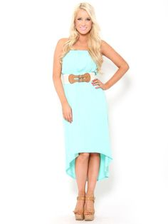 Belted High Low #Dress in #Mint #stylesforless what an amazing dress for spring!!! Beautiful!!! <3