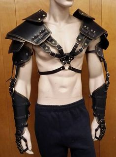 Leather Armor Double Strap Full Arm by SharpMountainLeather