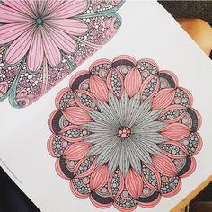Beautiful unique pink mandala pattern by emmatroejborg on instagram.