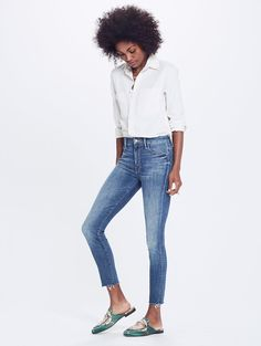 707ed33ee57 High Waisted Looker Ankle Fray - Not Rough Enough Popular Jeans