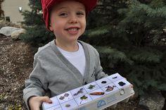 use egg carton for as scavenger hunt