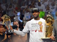 Jun 20, 2013: LeBron James holds the MVP trophy and