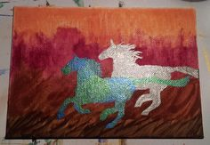 Earth and Moon Horses by Ty