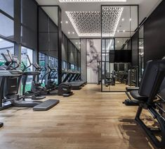 hotel fitness Design - Super Ideas For Home Gym Design Interior Window Gym Interior, Interior Windows, Luxury Interior, Home Gym Design, Design Hotel, Hotel Design Interior, Deco Tv, Luxury Gym, Gym Room At Home