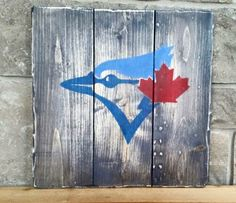 Toronto Blue Jays Wood Painted Sign, Jays, Baseball Sign by IronwoodNorthDesign… Baseball Signs, Baseball Crafts, Baseball Games, Baseball Videos, Baseball Live, Basketball Rules, Baseball Boys, Painted Signs, Wooden Signs