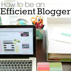 It's kind of funny to me that I up and decided to write a post on how to blog efficiently, especially since I didn't post but once last week. Ha! While I do get a lot of things done, other things u...
