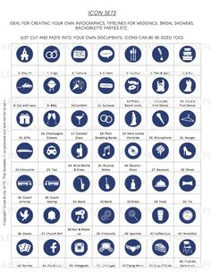ICON SETS   Create your own Infographic Timelines   Copy and paste into your own…