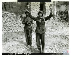 Moroccan soldier with captured German POW in Castelforte, Italy on 13 May 1944 | The Digital Collections of the National WWII…