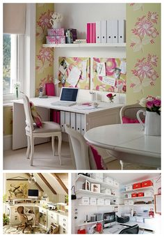 This is pretty. I like the under desk storage option. How inspiring