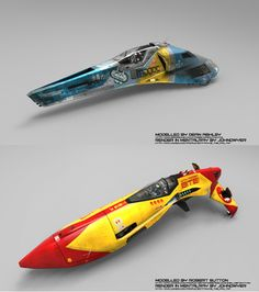 WipeOut HD Ship .Background is lofted plain, render in Maya 2010 Mentalray