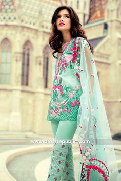 Mina Hasan Embroidered Lawn 2017 - DRP6557