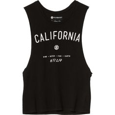 Element California Muscle Tank Top ($14) ❤ liked on Polyvore featuring tops, shirts, tank tops, tanks, element shirt, muscle tank and shirts & tops