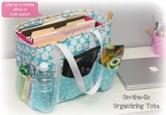 On-the-Go Organizing Tote. The pattern is now available.