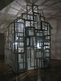 Chiharu Shiota, House of Windows [Haus am Lützowplatz, Berlin], 2005