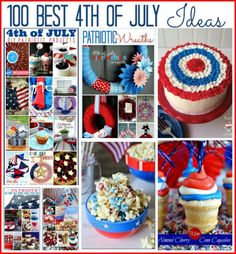100 of the Best DIY Projects and Recipes! #fourthofjuly