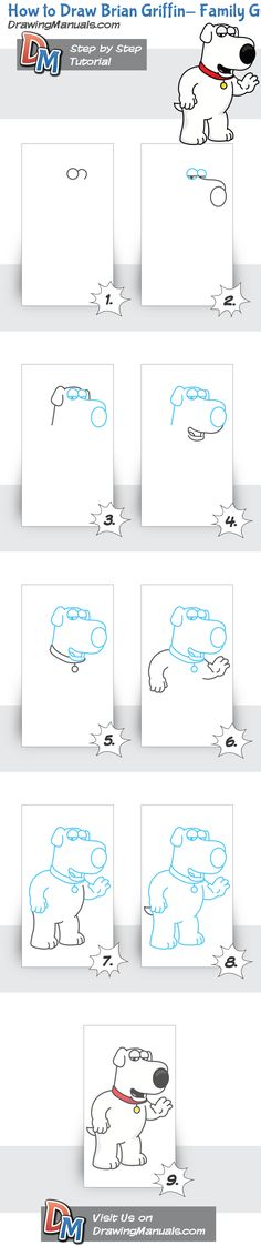 How to Draw Brian Griffin-Family Guy
