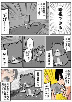 『鴻池剛と猫のぽんたニャアアアン!』の漫画家・ 鴻池剛 さんと夢のコラボが実現! オムロンの 見守りカメラ『 家族目線 』を実際に使用し、ぽんたやアルフレッドのお留守番の様子を漫画にして頂きました!第2話は「暗視できる」です。