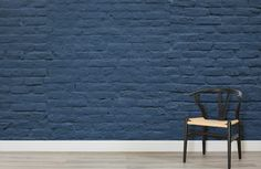 deep-blue-brick-wall-mural-textures-room