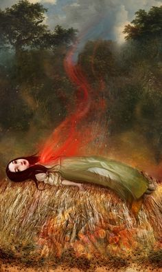 My Funeral Pyre by Lisa Falzon, via Etsy