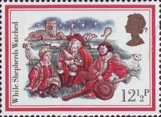 Christmas Carols 12.5p Stamp (1982) 'While Shepherds Watched'
