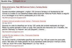 Ferruccio Gianola: Rimpinguate le mie top 100