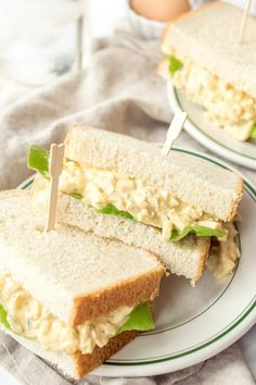 Here's a recipe for the very best egg salad to make the best Egg Salad Sandwiches. Spread on your favorite bread for a delicious sandwich. Salad Recipes With Bacon, Best Egg Salad Recipe, Bacon Recipes, Sandwich Recipes, Wrap Recipes, Lunch Recipes, Yummy Recipes, Egg Salad Sandwiches, Delicious Sandwiches
