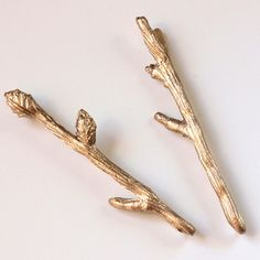 Twig Bobby Pins ($21). In gold, bronze, and silver shades, these Etsy accessories will add a touch of whimsy to any ensemble.