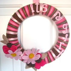It's a Girl wreath www.bourdiers.etsy.com - making one for when I deliver my baby girl!!!! :)