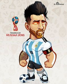 Today is the turn for let see if he find the joy of playing. Barcelona Players, Real Madrid Players, Fc Barcelona, Man Character, Character Design, Lionel Messi, Messi 10, Cartoon Design, Fifa World Cup