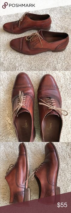 Cole Haan Women's Oxfords Very cute women's brown leather oxfords from Cole Haan. Size 8.5. Heel height 1/2 inch. Some wear as seen in the pictures but great condition. Cole Haan Shoes Flats & Loafers