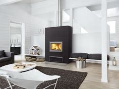 New Valkia Nammi - a modern power heater with stylish surface options. #tulikivi
