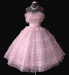 Frothy Pink 1950's Prom dress by my_vintage_studio, via Flickr